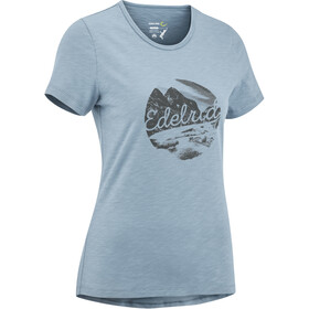 Edelrid Highball IV T-Shirt Donna, stone blue